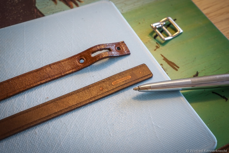 rolleiflex leather strap replacement diy
