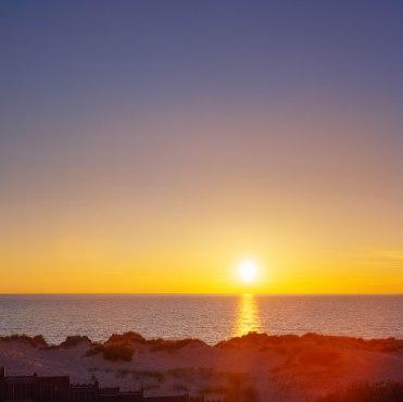 Sunset at the beach.