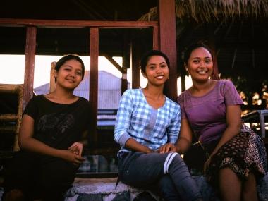 Gili Meno youth hanging at the beachfront.