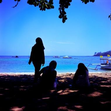 Youth hanging at Sengiggi beach