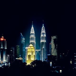 Night time city scape of Kuala Lumpur.